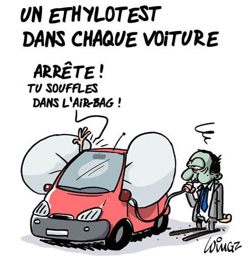 Ethylotest obligatoire dans le véhicule Ethylotest