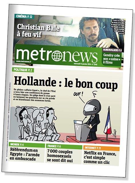 metro 15 janvier 2014