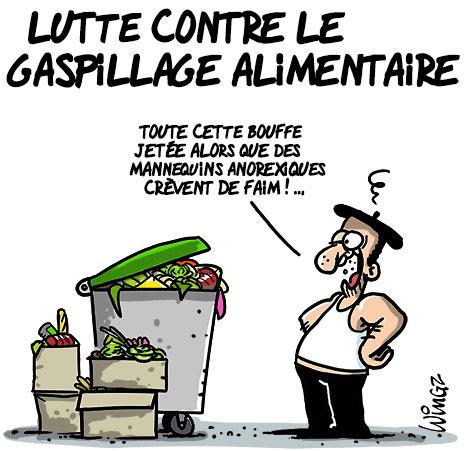 gaspillage alimentaire vu par Wingz (wingz.fr)