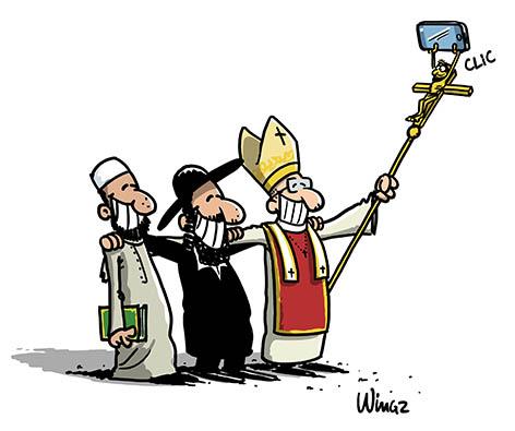 religions selfie pape imam