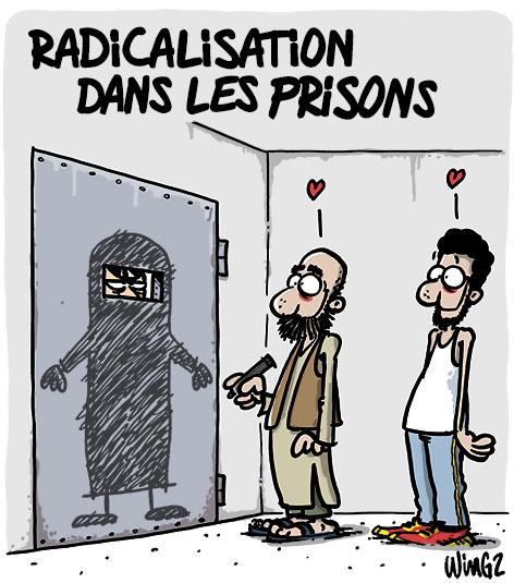 radicalisation islamiste prison dessin humour