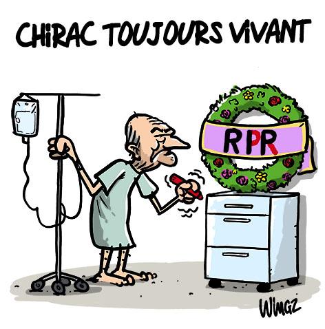 chirac hospitalisé